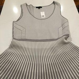 Banana Republic Gray Striped Sweater Dress
